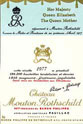 Chateau Mouton Rothschild 1977,  Queen Mother Hommage